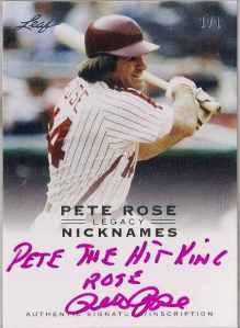 2011 Leaf Pete Rose Legacy 1/1 Pete Rose