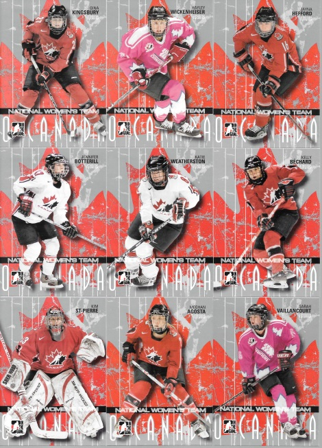 2007-08 Team Canada Women's Hockey Team Complete Team Set (20 cards)