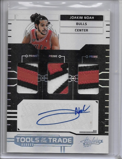 2010-11 Panini Absolute Tools of the Trade Auto Prime Patch Joakim Noah 4/5